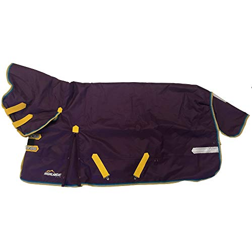 Shires Highlander Plus 200g Combo Turnout Rug 135cm Purple/Mustard/Grey/Green