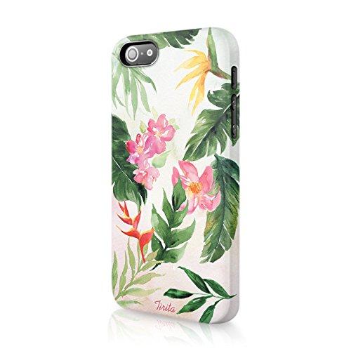 Tirita Iphone 4 & 4s Hard Case Phone Cover Tropical Flamingo Pineapple...