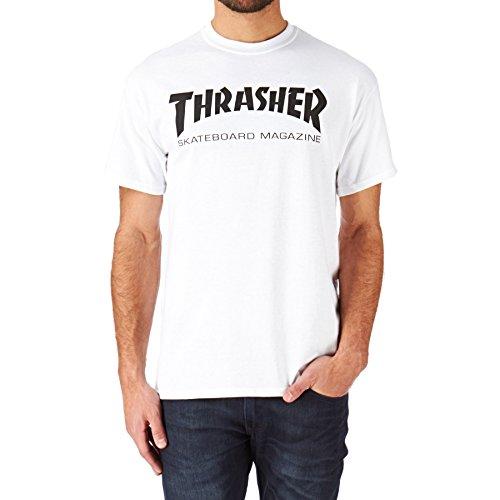 THRASHER Skate mag Camiseta, Unisex Adulto, White, L