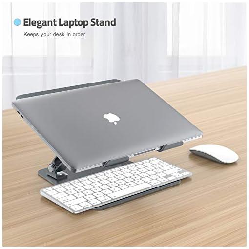 Nulaxy Soporte ergonómico para ordenador portátil, ángulo de altura ajustable 6