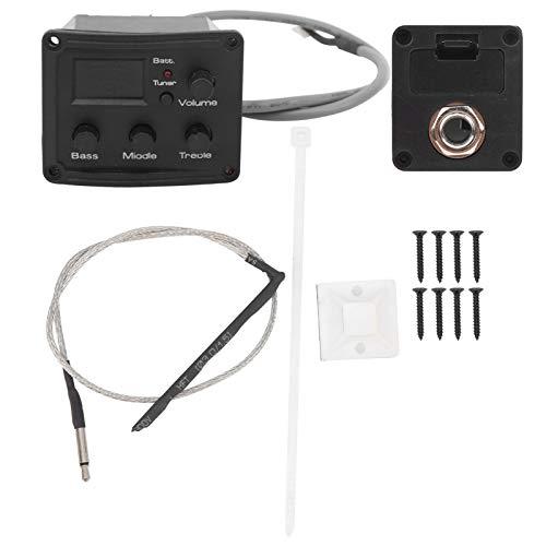Sintonizador EQ de pastilla de ukelele con pantalla LED Ecualizador de 3 segmentos Accesorio de instrumento musical para amantes del ukelele