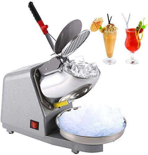 Review SMLCTY Electric Stainless Steel Snow Cone Maker Machine 50Hz with Double Blade 220V Ice Blend...