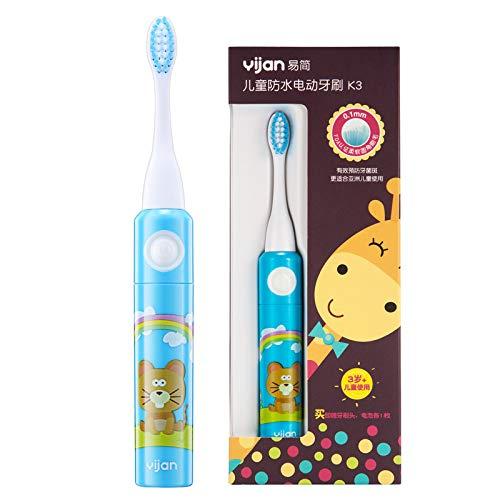 Sunhao Elektrische tandenborstel voor kinderen, ultrasone trillingen van zacht haar, borstels