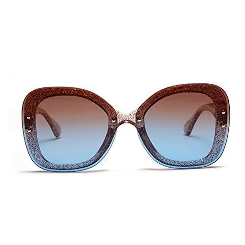 SUNNYJ Occhiali da Sole da Donna Ladies Shining Fashion Elegante Occhiali da Sole Trendy Glitter Eyewearsign Occhiali da Vista 51 Gradient Colour