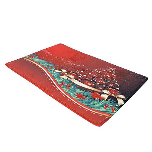01 Alfombrilla navideña, Antideslizante, Resistente al Desgaste, Alfombrilla Antideslizante Resistente, alfombras para el Piso, Alfombrilla para el baño, Sala de(60 * 40cm)