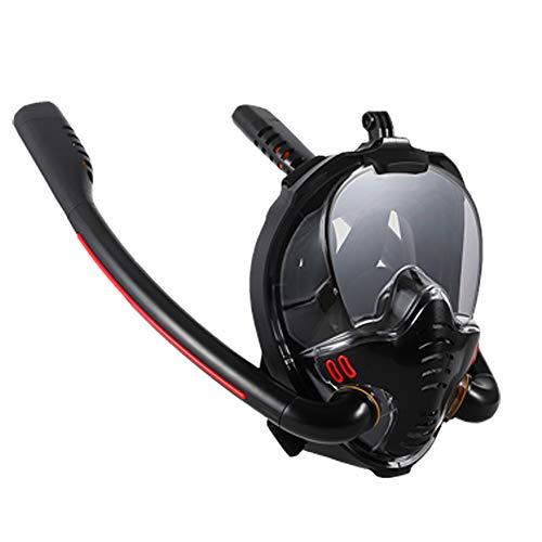Roeam Mascara Buceo,Mascara Snorkel 180° Panorámica Gafas,Soporte Antivaho Gafas Mascara de Buceo para Adultos y Niños