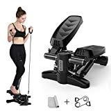 Grapefruit - Stair Stepper, Portable Climber Stepper with Resistance Bands and LCD Monitor. Men and Women Exercise Home Workout Equipment for Full Body Workout, Exercise, Stair Stepping Fitness.