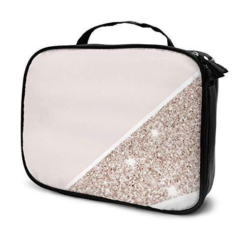 Bolsa de aseo con diseño abstracto de líneas abstractas de gran capacidad, bolsa de cosméticos portátil, bolsa de maquillaje, impermeable, bolsa de almacenamiento para mujeres y niñas