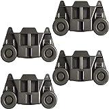 MySit 4 Pack W10195416 UPGRADED Dishwasher Wheels Lower Rack For Kenmore Whirlpool Kitchenaid Maytag...