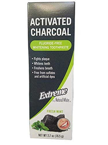 "Activated Charcoal""Extreme"" - Fluoride Free - Whitening Toothpaste (1-Pack)"