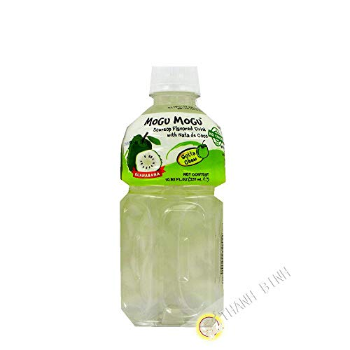Beber Nata de coco, Guanábana MOGU 320ml Tailandia - Pack de 12 unidades