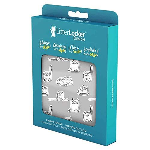 LitterLocker 10451 Fashion - Funda de tela, diseño de gatos