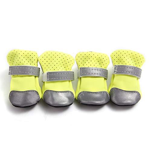 Sensitiveliu Zapatos para Perros Zapatos Transpirables Reflectantes para Perros Zapatos de Suela Blanda adecuados para Perros pequeños y Cachorros Funda Transpirable para pies Estilo Delgado