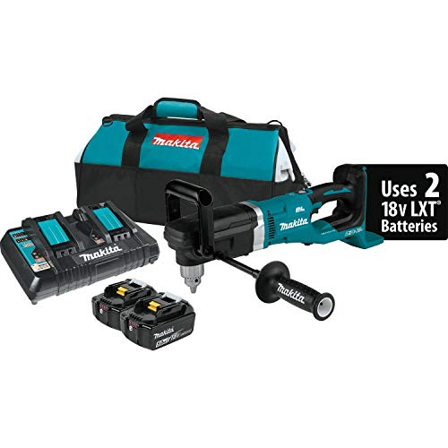 Makita XAD03PT 18V X2 LXT Lithium-Ion (36V) Brushless Cordless 1/2' Right Angle Drill Kit (5.0Ah)