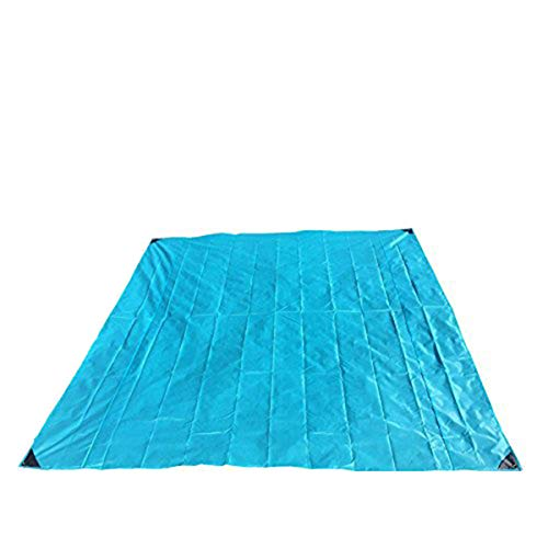 Couverture de pique-nique portable imperméable – tapis de plage anti-sable - couverture de poche légère pour camping, randonnée, voyage - 200 x 200 cm