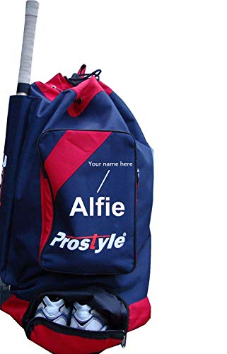 PROSTYLE SPORTS Personalised Junior Cricket Premier Duffle bag 2021 Navy/Red, Standard