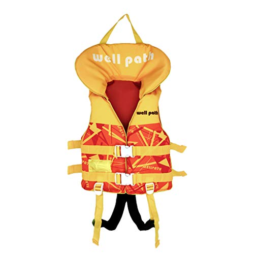 子供用 ライフジャケット スノーケリングベスト 幼児フローティング 救命胴衣 緊急ホイッスルと調節可能なシートベルトを備えた浮力の水着 スイミング補助具 川遊び 釣り ボート 海水浴 強い浮力 安全安心 (オレンジ, XS)