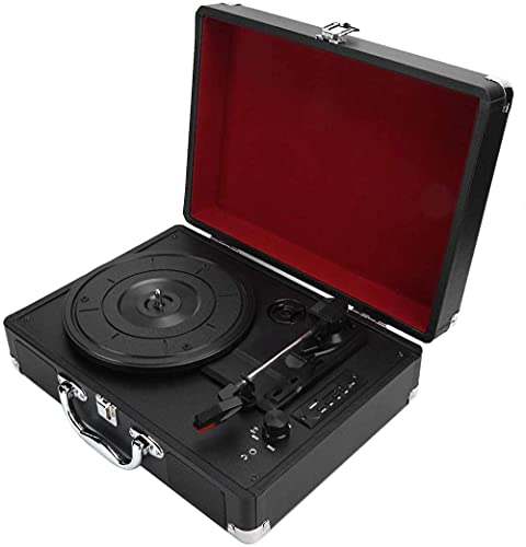 ZSMLB Tocadiscos Vinilo portátil Tocadiscos para el hogar Tocadiscos para Discos Vinilo 7/10/12 Pulgadas USB/fonógrafo Memoria Tocadiscos fonógrafo