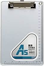Chris.W A5 Recycled Aluminum Clipboard with Low Profile Clip and Hanging Hole - cm & Inch Dual Scales Stationery(6''x 9'')