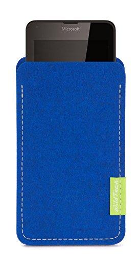 WildTech Sleeve für Microsoft Lumia 640 XL Dual SIM Hülle Tasche - 17 Farben (made in Germany) - Azure