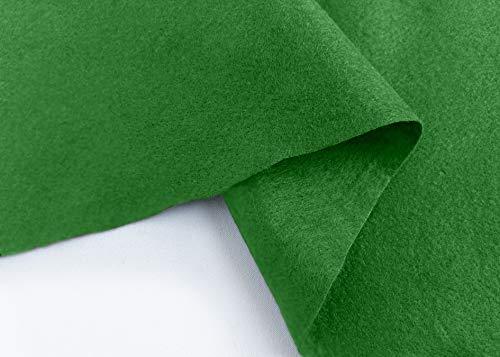 Hojas de fieltro verde esmeralda para manualidades, material por metro, material para costura bordada, 90 cm de ancho