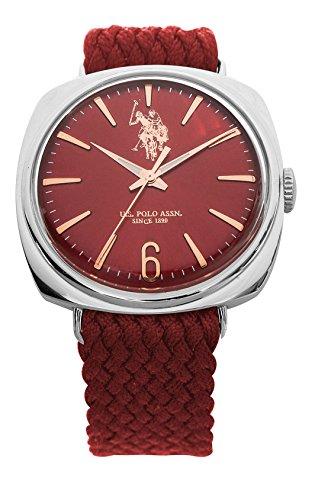 U.S. Polo Assn Herren Analog Quarz Uhr mit Textil Armband USP4422RD