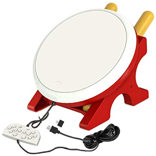 abcGoodefg Drum Controller for Nintendo Switch, Drum Sticks Controller Set Taiko Drum Master Accessories for N- Switch Version