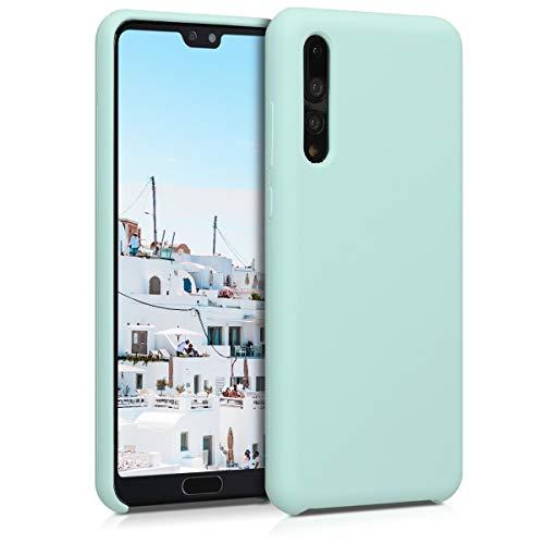 kwmobile Funda Compatible con Huawei P20 Pro - Carcasa de TPU para móvil - Cover Trasero en Menta Mate