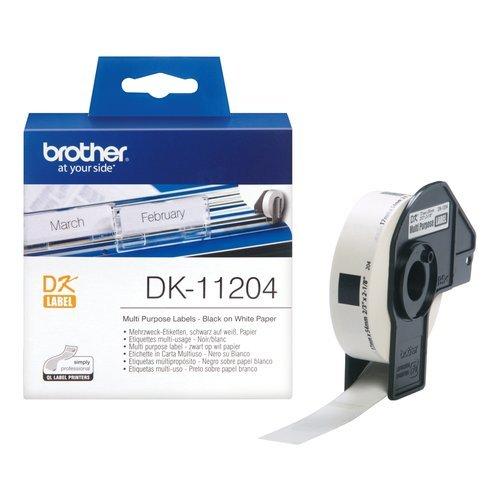 Brother DK-11204 Thermodirektdrucktechnologie Schwarz/Weiß