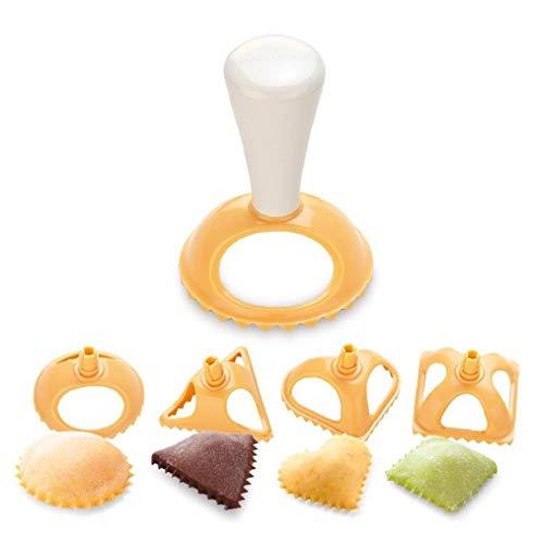 JBNS 4pcs Plastik Dumpling Formen 4 Formen Kreative Dumpling Presse Werkzeug Netter Dumpling Maker Multifunktionale Küchenwerkzeug Kochen Gebäck Dumpling Mold