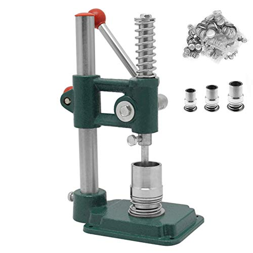Soiiw Button Maker Handmade Fabric Covered Button Maker Button Machine DIY Tool with 3 Molds (diameters 18, 25, 30mm) and 300 Pcs Buttons