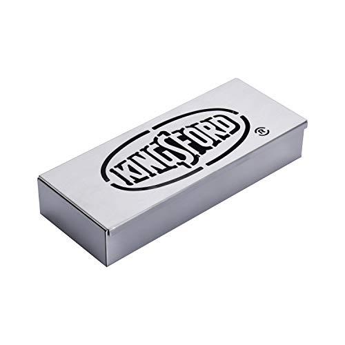 Kingsford Edelstahl Smoker Box für Grill | Räucherbox für alle Grills | Hochwertiges Grillzubehör | Einfache Möglichkeit, jeden Grill in einen BBQ Smoker zu verwandeln