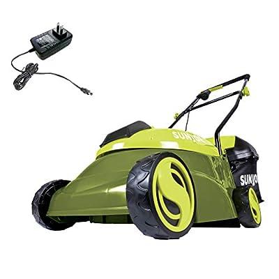 Sun Joe MJ401C 14-Inch 28-Volt Cordless Push Lawn Mower, 14 inches, Green