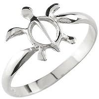 ハワイアンリング 亀 ホヌ リング 指輪 ピンキーリング シルバー sv925 8