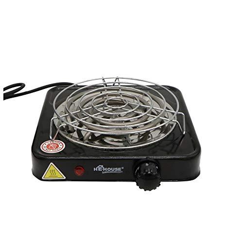 TJCJIEM Cocina Eléctrica para Shisha Cachimba Hookah, Hornillo Eléctrico para Carbón Camping para Cocinar Carbón Estufa Eléctrica Calefacción 1000W