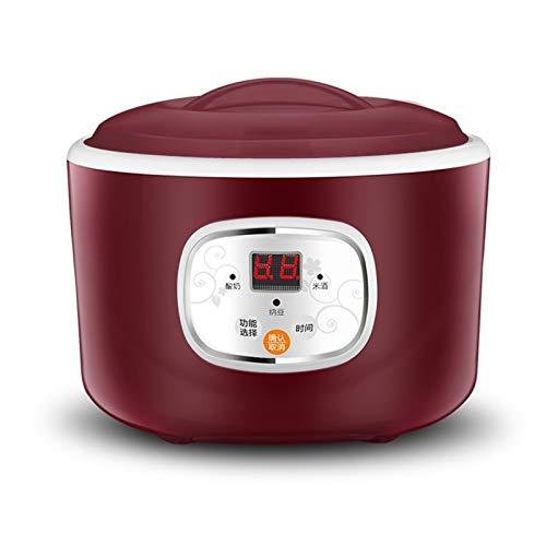 WGGTX Máquina de Yogur 220V eléctrico automático Fabricante de Yogur termostática Utensilios de Cocina Vino de arroz de Natto máquina de Acero Inoxidable Liner Casa, Cocina