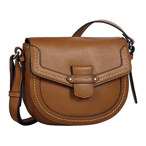 Tom Tailor Gabriela Flap Bag Sac pour femme Taille M - Marron - cognac, Medium