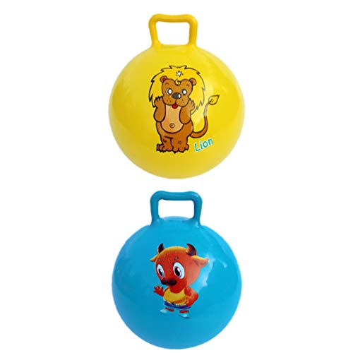 VILLCASE 4Pcs Kinder Bouncing Balls Kinder Trichter Ball Aufblasbare Trichter Ball Tier Muster Springen Bälle Fitness Ball Übung Ball für Kinder
