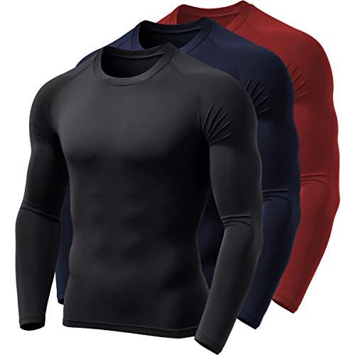 Kit 3 Camisa Térmica BOYOU Blusa Esquenta Proteção UV 50 Fps Compressão 037 (M)