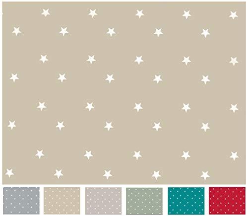 Home Direct Mantel de Hule, Rectangular 140 x 180cm Estrellas, Beige