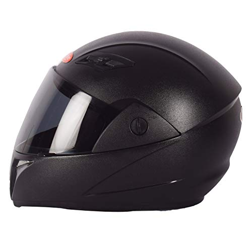 ACTIVE FAST Full Face Helmet in Matt Finish With Smoke Visor (Black, M) (BLACK)