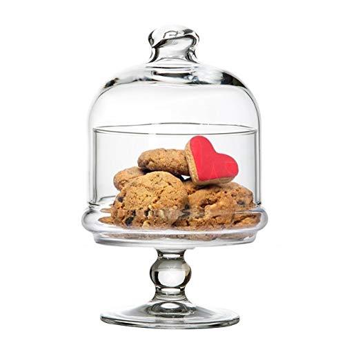 SWEET HOME Mini-Gebäckständer für Kuchen in Glas mit Glaskuppel cod.AC00380LU cm 18,3h diam.10 by Varotto & Co.
