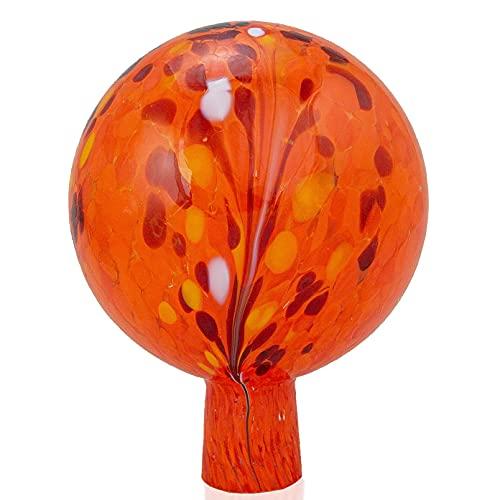 Glaszentrum Lauscha Gartenkugel Rosenkugel 15cm orange aus Glas aus Lauscha