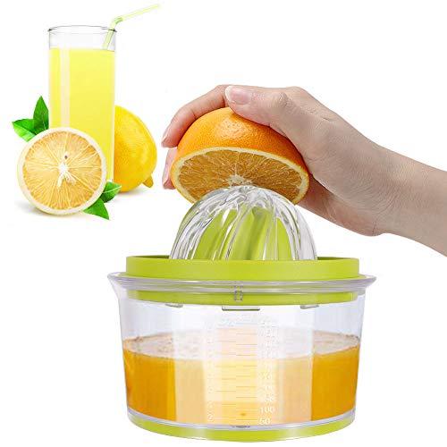 IZSUZEE Exprimidor Zumo Manual, Exprimidor Naranjas Profesional de Plástico 4 en 1,...