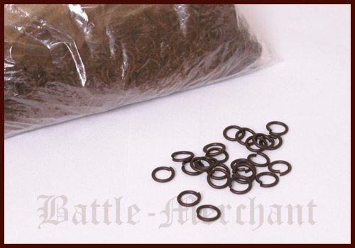 Battle-Merchant 1 kg Paket lose Kettenringe, unvernietet, 8mm, brüniert - Kettenhemd bauanleitung