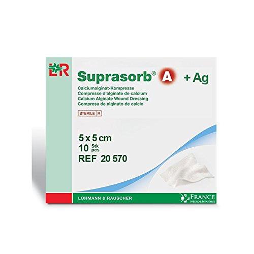 Pflaster Alginat von Calcium + Silber SUPRASORB® A 5x 5cm Packs von 10–20570