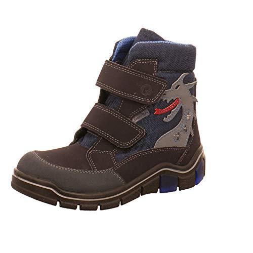 RICOSTA Jungen Boots GRISU, Weite: Mittel (WMS),Sympatex,Blinklicht,gefüttert,wasserdicht,Winterboots,warm,See/Ozean (182),30 EU / 11.5 Child UK