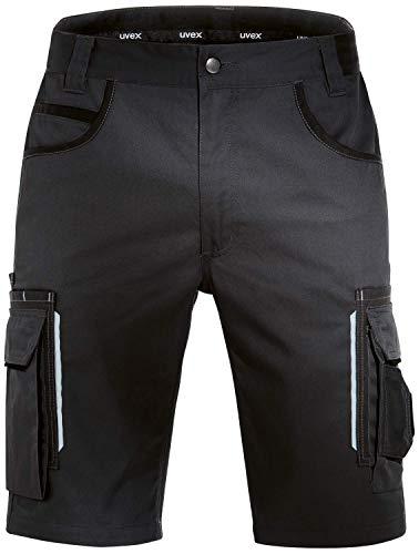 Uvex Tune-Up Arbeitshosen Männer Kurz - Shorts für die Arbeit - Schwarz - Gr 34W/Etikettengröße- 52