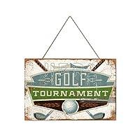 ゴルフトーナメント木製のリストプラーク木の看板ぶら下げ木製絵画パーソナライズされた広告ヴィンテージウォールサイン装飾ポスターアートサイン