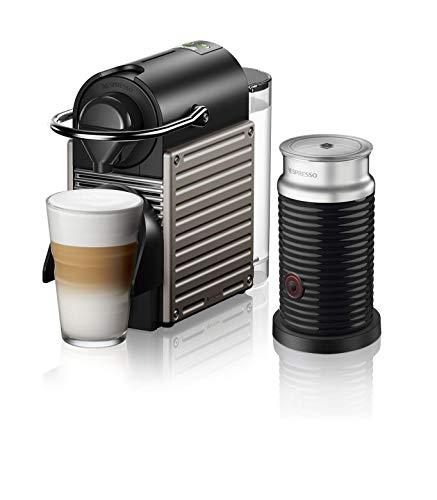 Nespresso Pixie Coffee Machine by Breville with Aeroccino - (BEC460TTN1BUC1), Titan